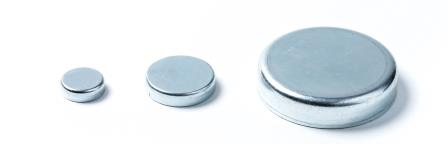 Pot magnets Hartferrite without bore and thread